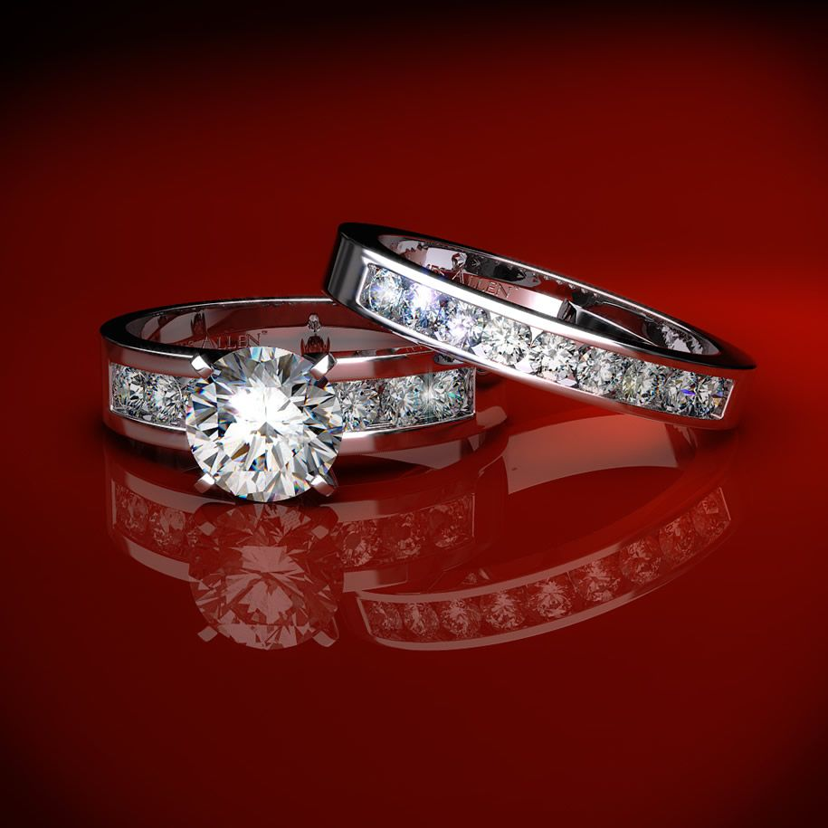 Wedding ring sets for Wedding bands and engagement ring sets